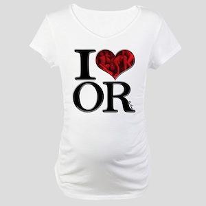 I Love ORgies Maternity T-Shirt