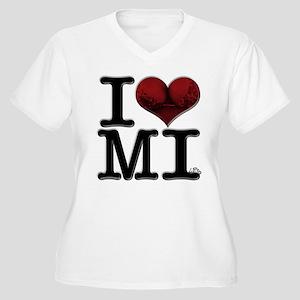 I Love MI-lfs Women's Plus Size V-Neck T-Shirt