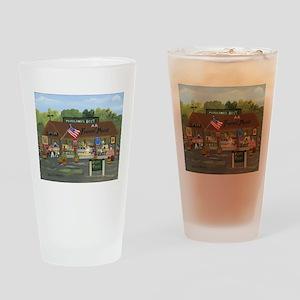 Farmers Market Drinking Glass