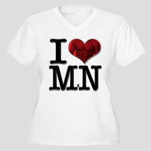 I Love MeN Women's Plus Size V-Neck T-Shirt