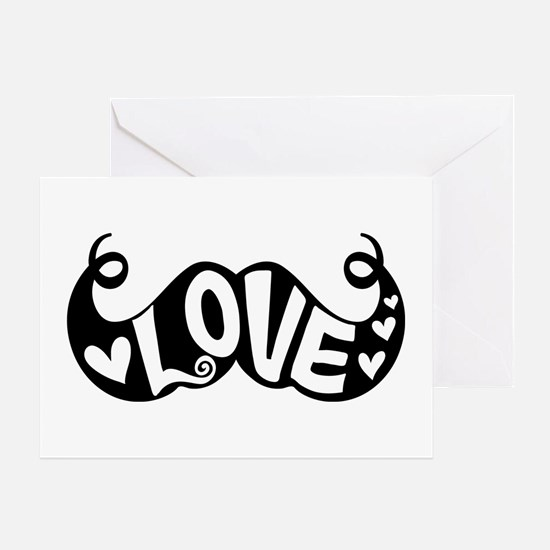 Mustache Love Greeting Card