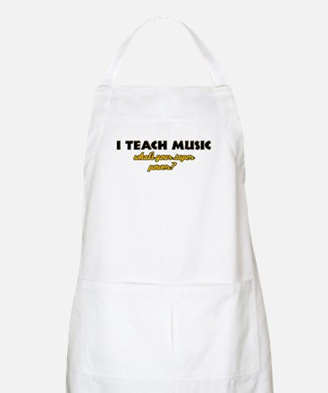 I Teach Music what's your super power Apron