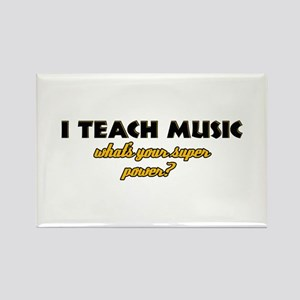 I Teach Music what's your super power Rectangle Ma