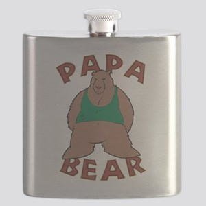Papa Bear - Brown Flask