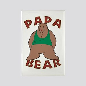 Papa Bear - Brown Rectangle Magnet