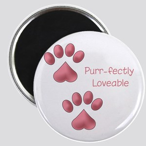 Purr-fectly Loveable Magnet