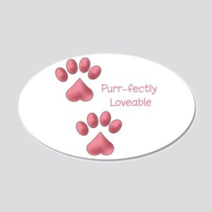 Purr-fectly Loveable Wall Decal