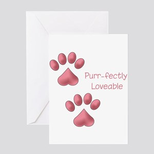 Purr-fectly Loveable Greeting Card
