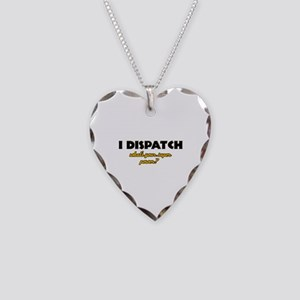 I Dispatch what's your super power Necklace Heart