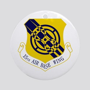 15th Air Base Wing Ornament (Round)