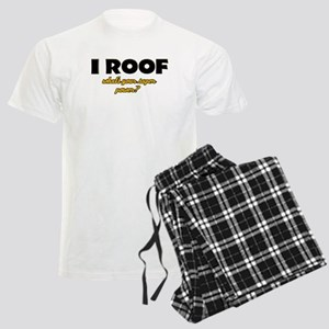 I Roof what's your super power Men's Light Pajamas
