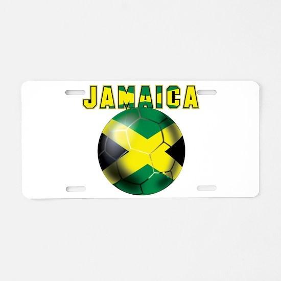 Jamaican Football Aluminum License Plate