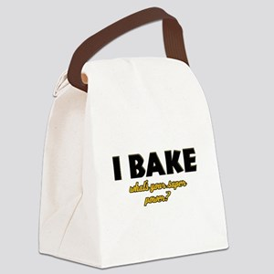 I Bake what's your super powe Canvas Lunch Bag