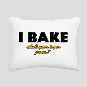 I Bake what's your super powe Rectangular Canvas P