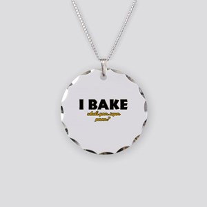 I Bake what's your super powe Necklace Circle Char
