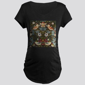William Morris Strawberry Thief Maternity Dark T-S