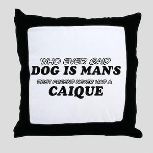 Caique Designs Throw Pillow