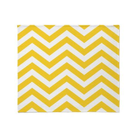 Chevron yellow Throw Blanket