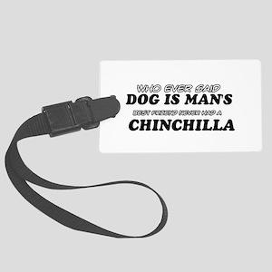 Chinchilla Designs Large Luggage Tag