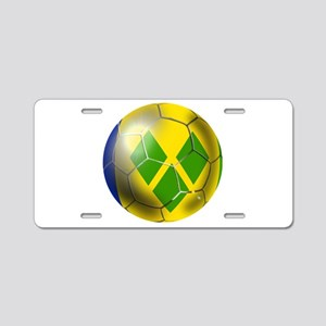 Saint Vincent Football Aluminum License Plate