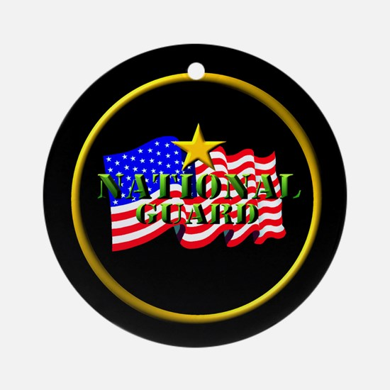 National Guard Ornament (Round)