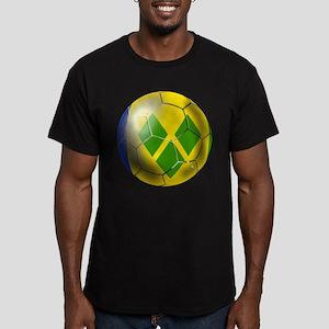 Saint Vincent Football Men's Fitted T-Shirt (dark)