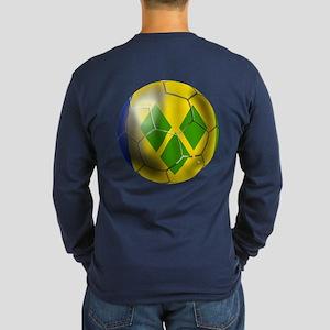 Saint Vincent Football Long Sleeve Dark T-Shirt