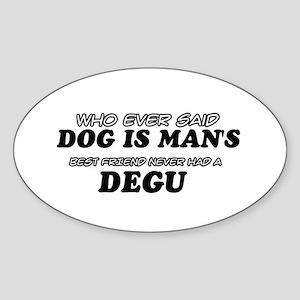 degu Designs Sticker (Oval)