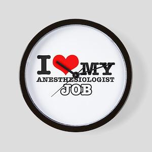 Anesthesiologist Job Designs Wall Clock