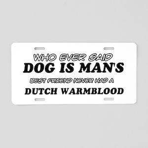 Dutch Warm Blood Designs Aluminum License Plate