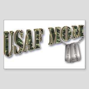 USAF Mom Rectangle Sticker