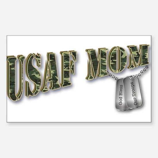 USAF Mom Rectangle Decal