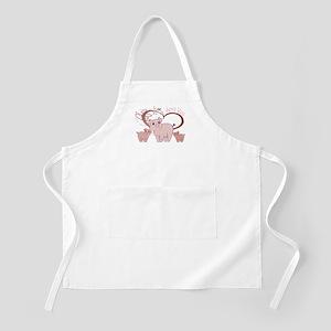 Love You, Cute Piggies Art Apron