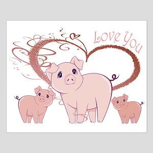 Love You, Cute Piggies Art Posters