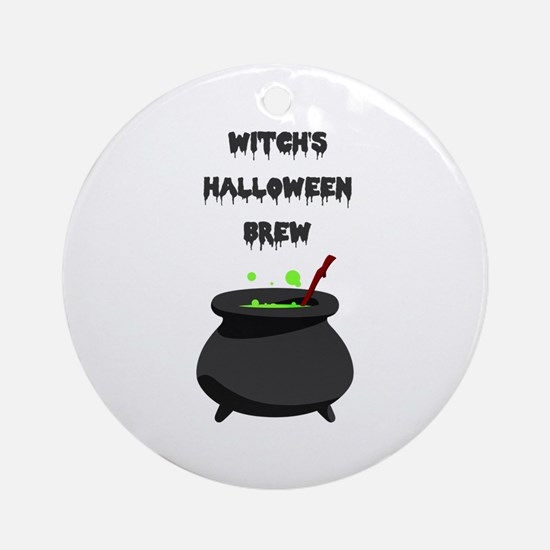 witchs halloween brew Ornament (Round)
