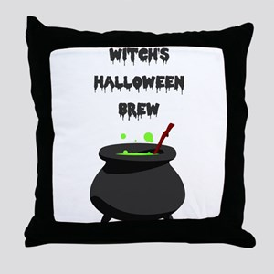 witchs halloween brew Throw Pillow