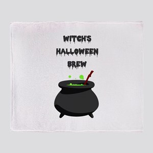 witchs halloween brew Throw Blanket