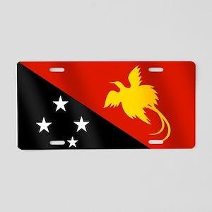 Papau New Guinea Flag Aluminum License Plate