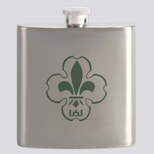 Lithuanian Scout Logo Flask