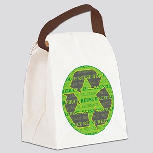Reduce Reuse Recycle Today Canvas Lunch Bag