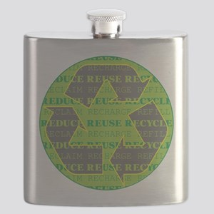 Reduce Reuse Recycle Today Flask