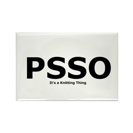 PSSO - It's a Knitting Thing Rectangle Magnet