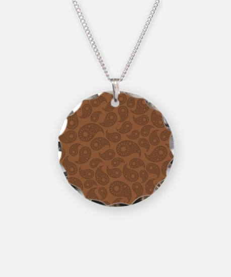 Brown Paisley. Necklace