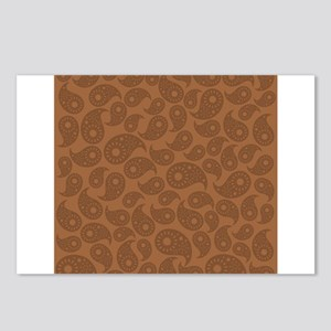 Brown Paisley. Postcards (Package of 8)