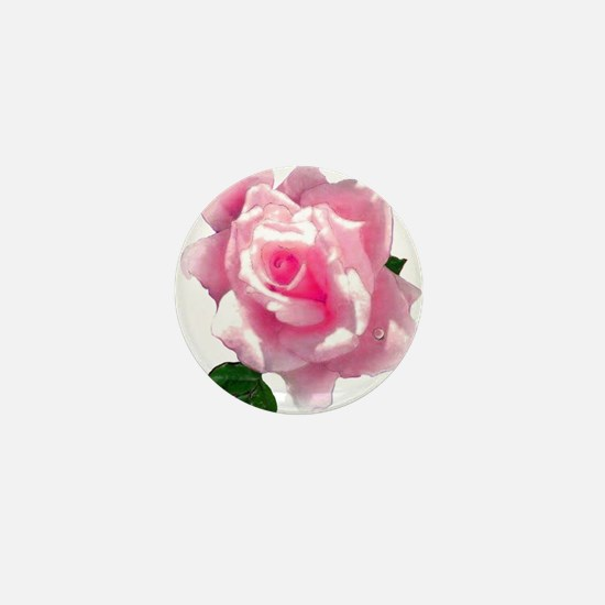 pink rose Mini Button