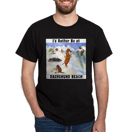 Dachshund Beach T-Shirt