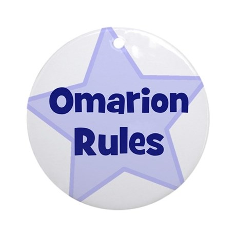 Omarion Rules Ornament (Round)