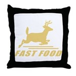 Fast Food Deer Throw Pillow