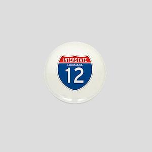Interstate 12 - LA Mini Button