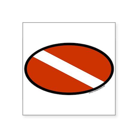 Scuba Diver Flag Oval Sticker